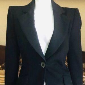 EUC Emanuel Ungaro Fuchsia black wool pant suit